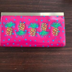 Patricia Nash pineapple leather wallet Clutch NWOT